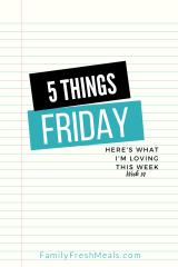 Five Things Friday Week 14