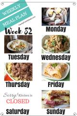 Easy Weekly Meal Plan Week 82
