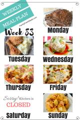 Easy Weekly Meal Plan Week 83