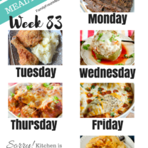 Easy Weekly Meal Plan Week 83