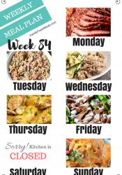 Easy Weekly Meal Plan Week 84