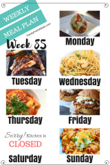 Easy Weekly Meal Plan Week 85 - Family Fresh Meals