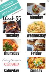 Easy Weekly Meal Plan Week 85
