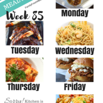 Easy Weekly Meal Plan Week 85