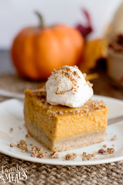 Creamy Pumpkin Pie Bars Recipe - Family Fresh Meals