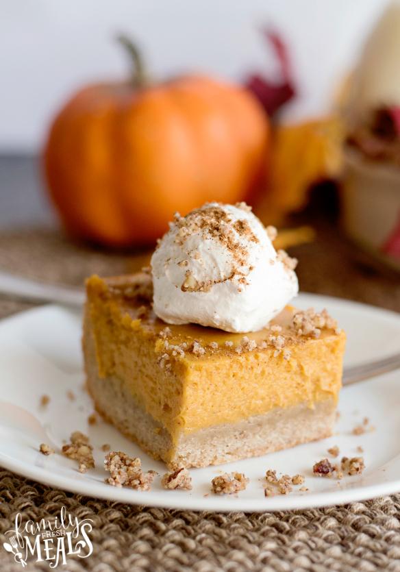 Creamy Pumpkin Pie Bars Recipe - Family Fresh Meals