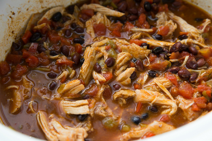 Crockpot Tex Mex Shredded Pork Bowls - Pork shredded and mixed with ingredients
