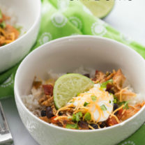 Crockpot Tex Mex Shredded Pork Bowls