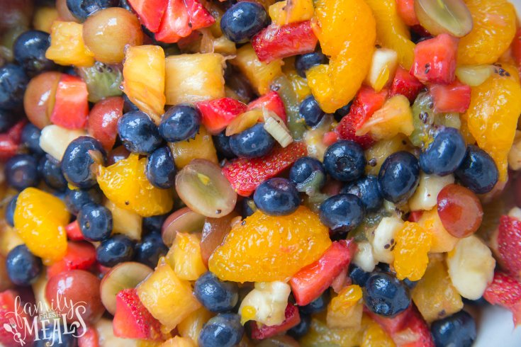 Honey Glazed Fruit Salad Recipe - Family Fresh Meals