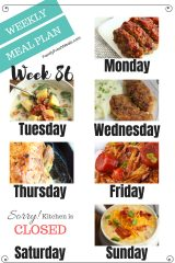 Easy Weekly Meal Plan Week 86