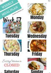 Easy Weekly Meal Plan Week 87