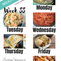 Easy Weekly Meal Plan Week 88
