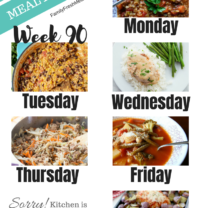 Easy Weekly Meal Plan Week 90