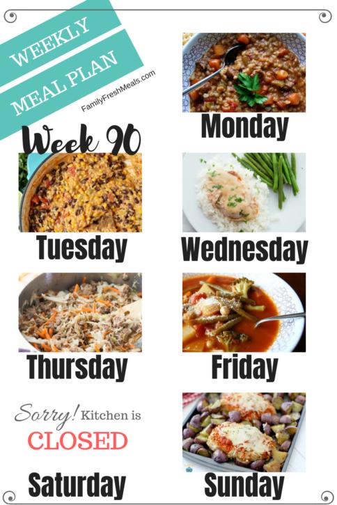 Easy Weekly Meal Plan Week 90