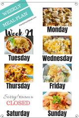 Easy Weekly Meal Plan Week 91