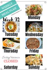 Easy Weekly Meal Plan Week 92