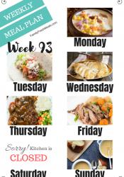 Easy Weekly Meal Plan Week 94