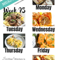 Easy Weekly Meal Plan Week 95