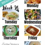 Easy Weekly Meal Plan Week 96