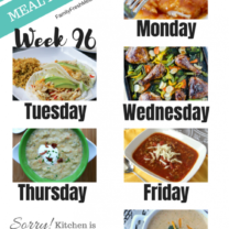 Easy Weekly Meal Plan Week 96