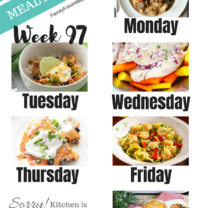 Easy Weekly Meal Plan Week 97