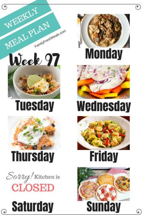 Easy Weekly Meal Plan Week 97