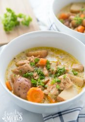 Creamy Crockpot Chicken Vegetable Soup