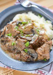 Crockpot Beef with Mushroom Gravy - Family Fresh Meals