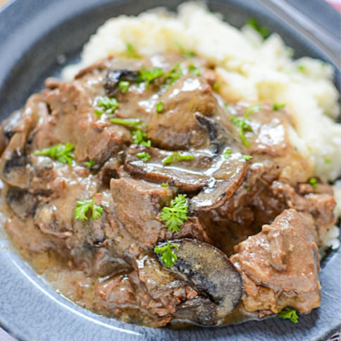 Crockpot Beef with Mushroom Gravy - Family Fresh Meals