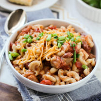 Crockpot Cowboy Chicken Chili Mac