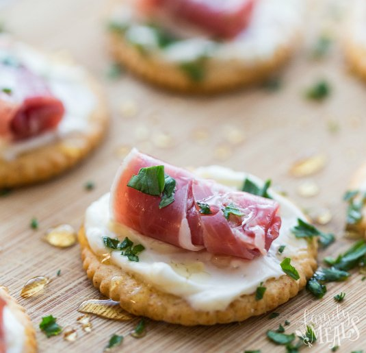 Easy Creamy Prosciutto Cracker Appetizer - Easy appetizer- Family Fresh Meals