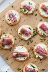 Easy Creamy Prosciutto Cracker Appetizer Recipe - Family Fresh Meals