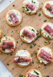 Easy Creamy Prosciutto Cracker Appetizer Recipe - Family Fresh Meals