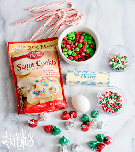 Holiday Sugar Cookie Cake - Ingredients laid out
