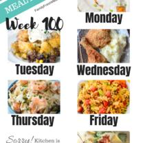 Easy Weekly Meal Plan Week 100