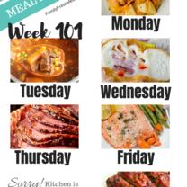 Easy Weekly Meal Plan Week 101