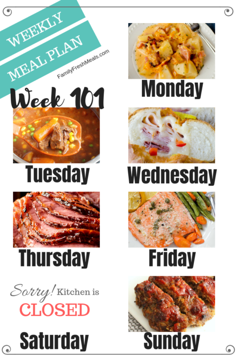 Easy Weekly Meal Plan Week 101 - Family Fresh Meals