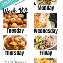 Easy Weekly Meal Plan Week 102