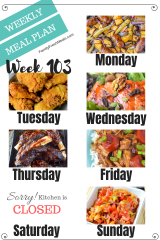Easy Weekly Meal Plan Week 103 - Family Fresh Meals