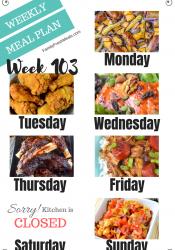 Easy Weekly Meal Plan Week 103