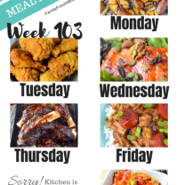 Easy Weekly Meal Plan Week 103