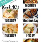 Easy Weekly Meal Plan Week 104