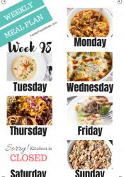 Easy Weekly Meal Plan Week 98