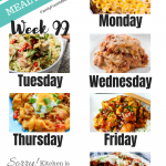 Easy Weekly Meal Plan Week 99