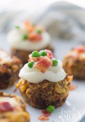 Mini Meatloaf Cupcakes - Family Fresh Meals