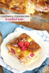 Raspberry Cheesecake Breakfast Bake Recipe - Family Fresh Meal