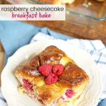 Raspberry Cheesecake Breakfast Bake