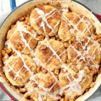 Skillet Apple Pie Dessert Biscuits