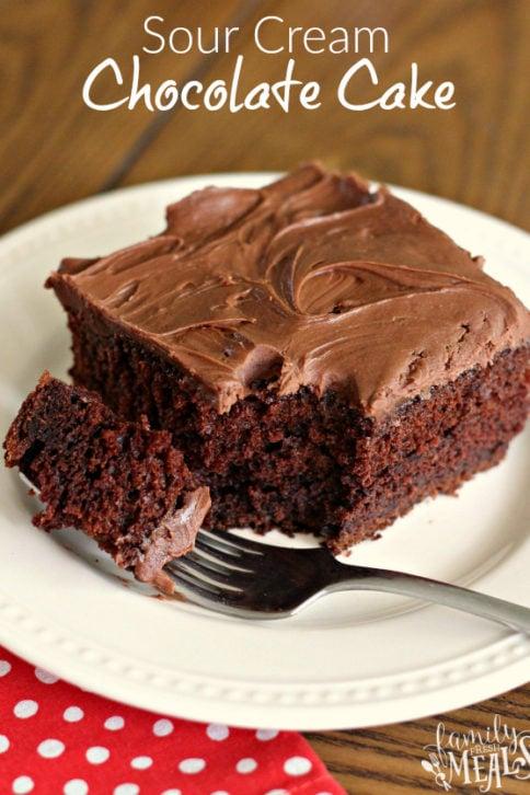 Sour Cream Chocolate Cake - Family Fresh Meals Recipe