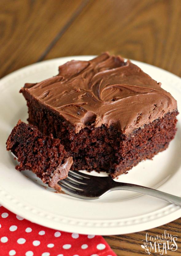 Sour Cream Chocolate Cake Recipe - Family Fresh Meals